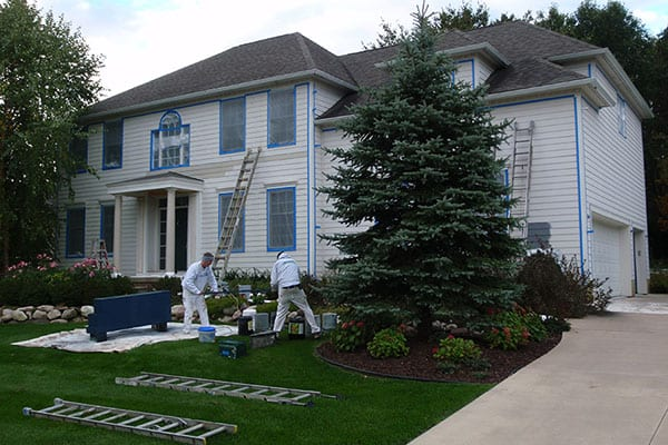 Exterior-Painting-At-A-Plymouth-MI-Home