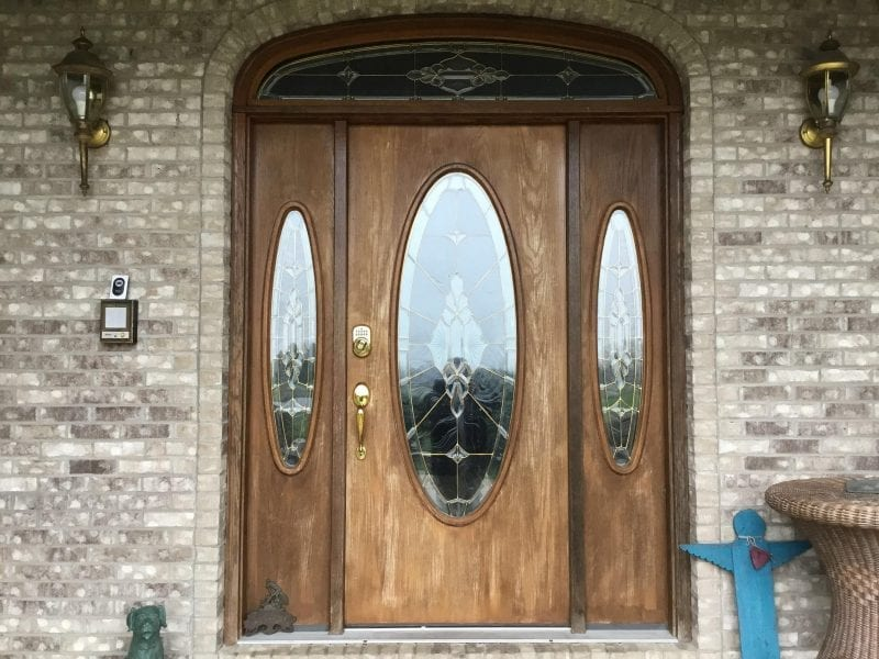 Door Staining In Canton MI - Before