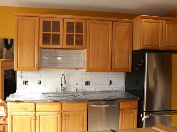 Before painting kitchen cabinets