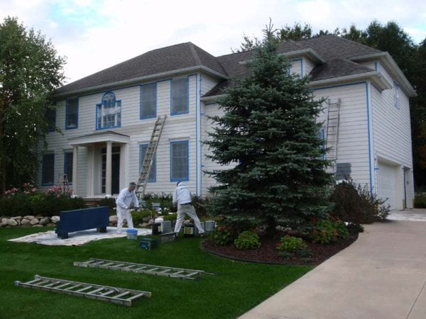 Painting exterior of home