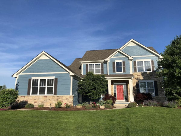 After painting a house exterior in dexter michigan