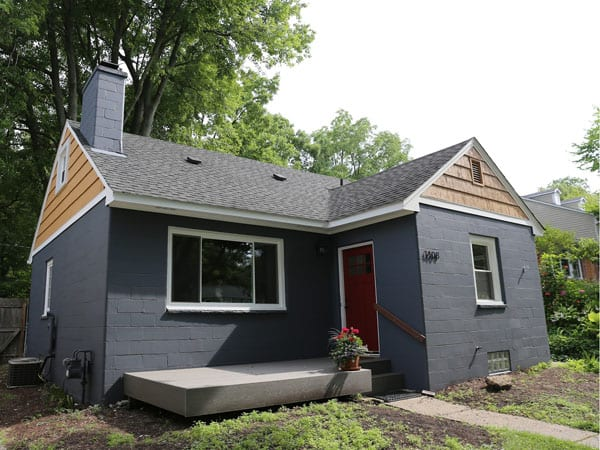 House exterior painted gray