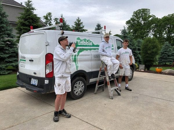 Tribbles crew for painting a house exterior in dexter michigan