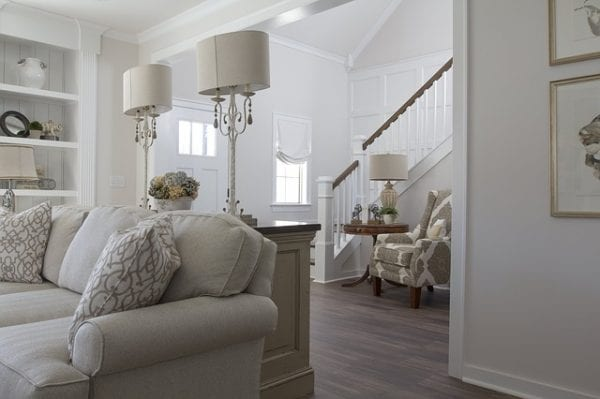 White walled living room