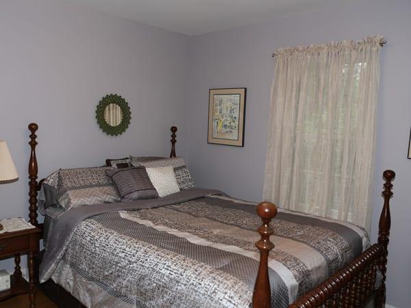 Flat paint sheen on bedroom walls