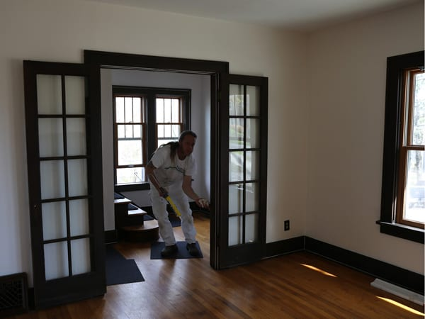Following the steps for how to paint interior trim