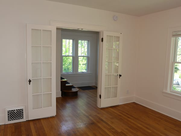 After painting interior trim and door white in Ann Arbor home
