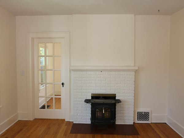 After painting trim and fireplace white