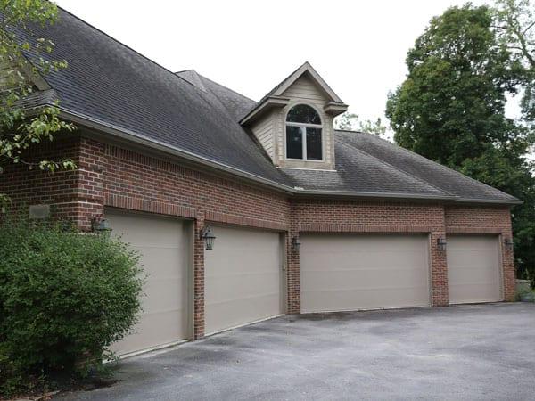 Before painting garage doors