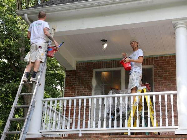 Painting Megans home exterior in Ann Arbor