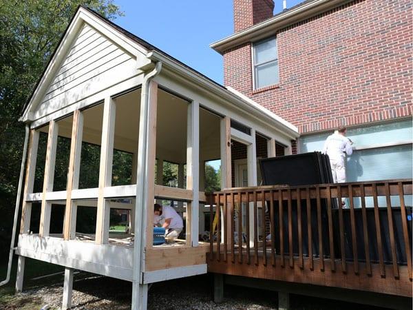 Repair rotting wood and painting exterior trim
