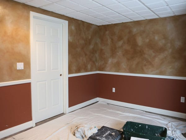 Interior walls with an older paint style