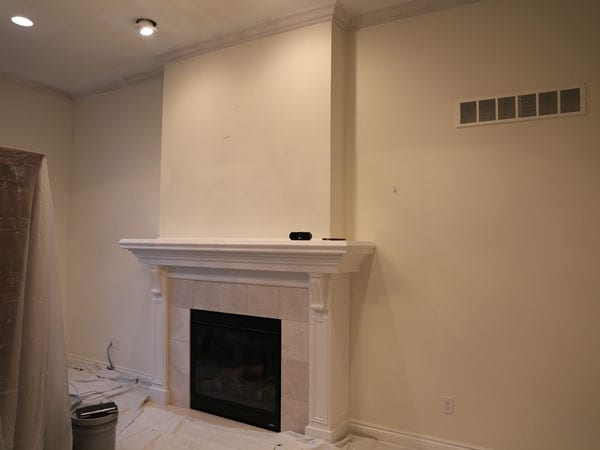 Before painting the crown molding and walls