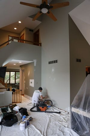 Beginning to paint the great room