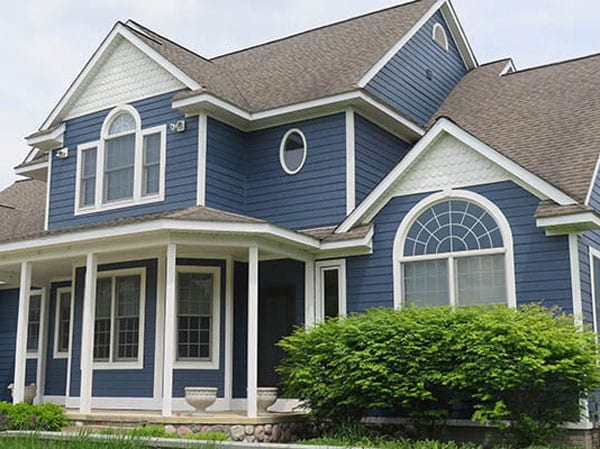 Blue is a popular exterior house color for homes in Ann Arbor