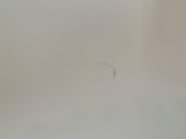 Marks on a wall that need cleaning