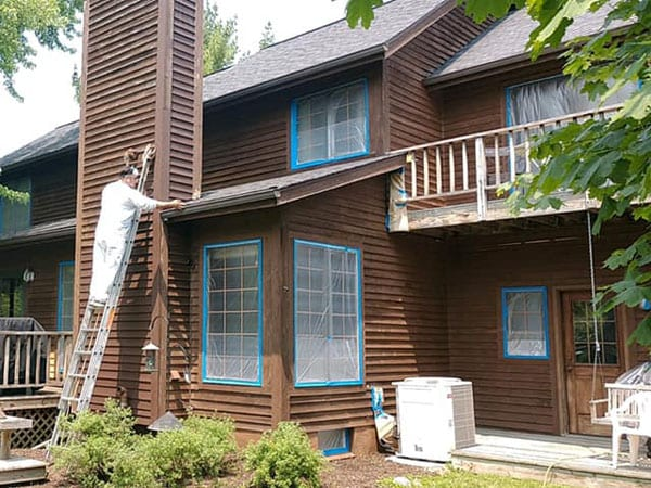 Prepping a wood exterior for painting