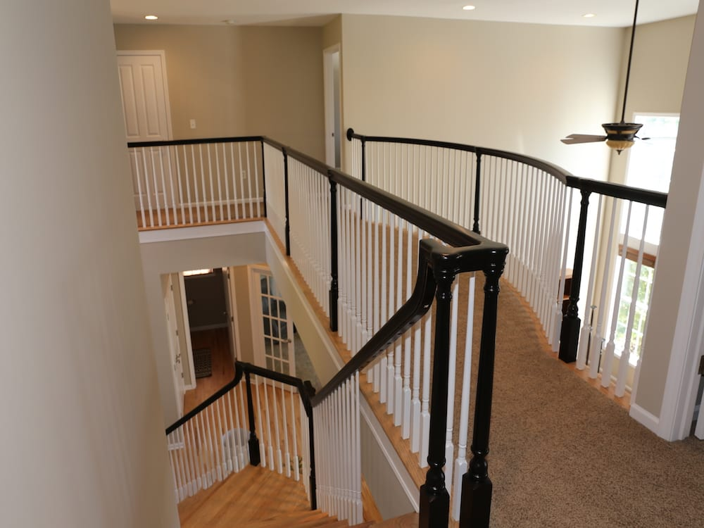 black painted handrail - after