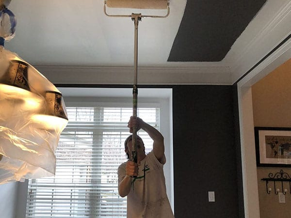 Painting an interior ceiling