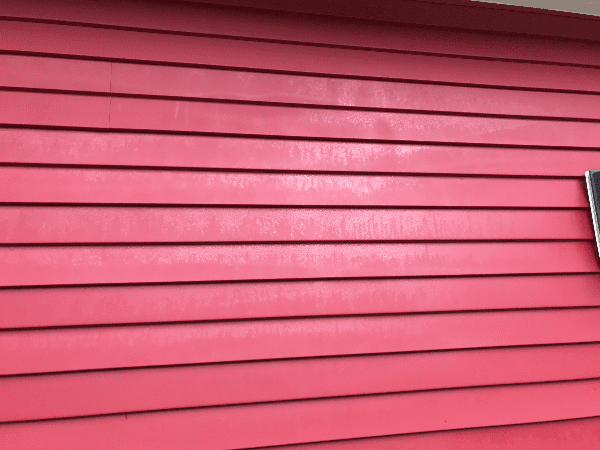 Rain ruining the new paint job for the aluminum siding