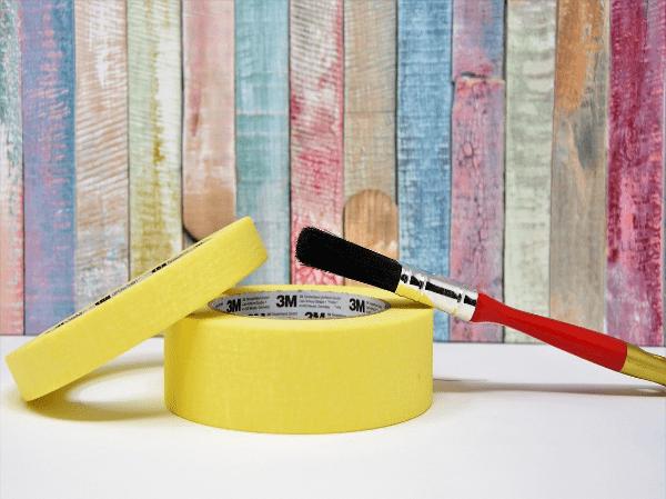 Yellow painters tape
