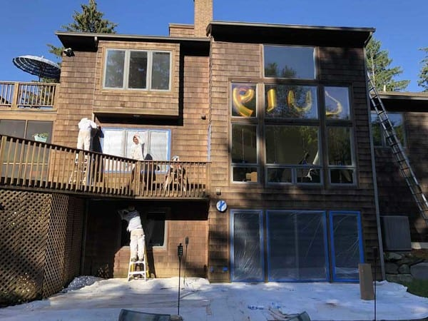 Painting a wood exterior