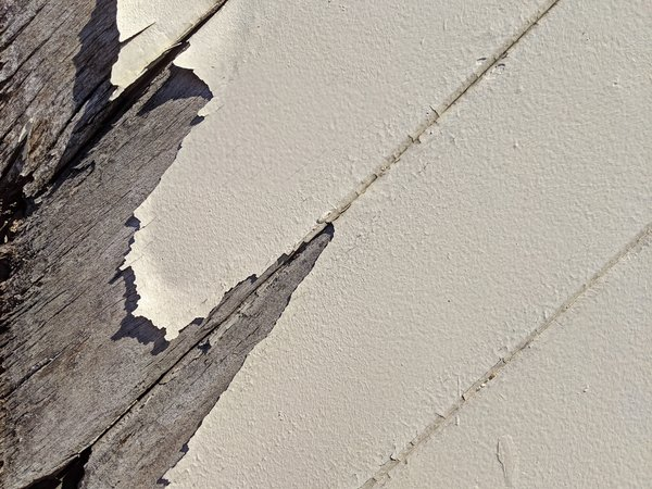 Rotting wood and peeling paint