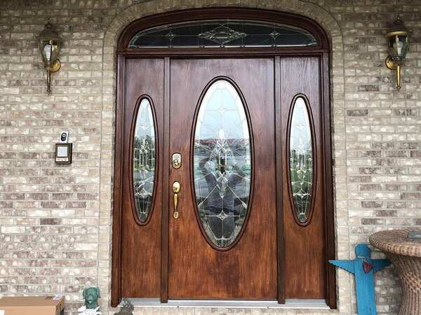 Door after following the steps for how to stain a door