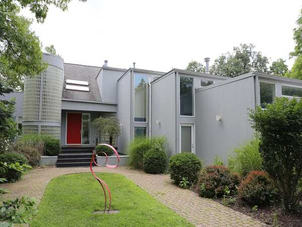 Modern style house with gray exterior color