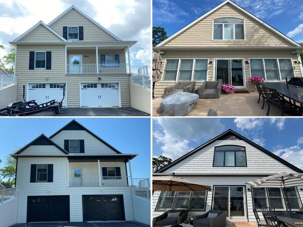 Newly painted vinyl house exteriors